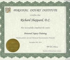 Chiropractic Hickory NC Personal Injury Training